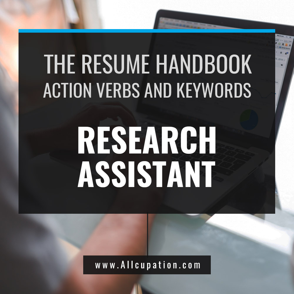 The Resume Handbook Research Assistant Resume Samples With Action
