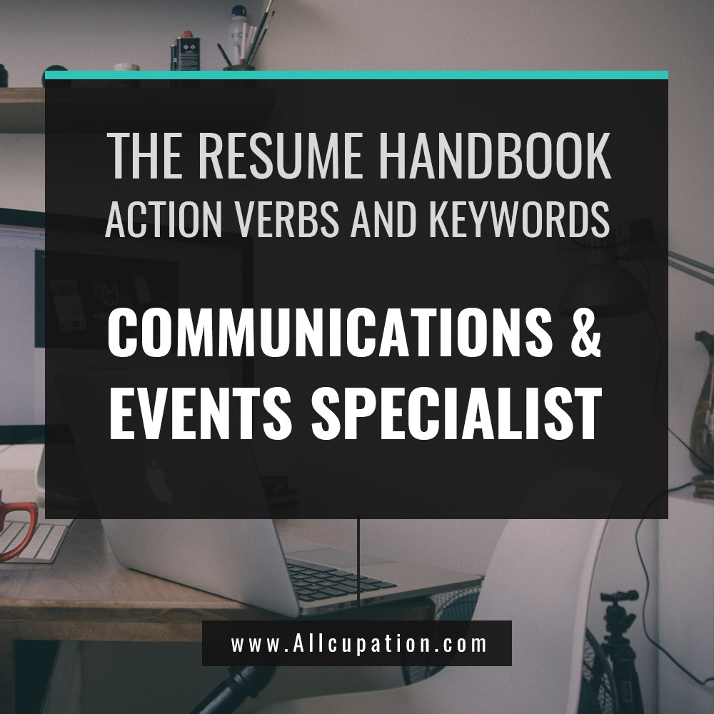 the resume handbook communications events specialist resume