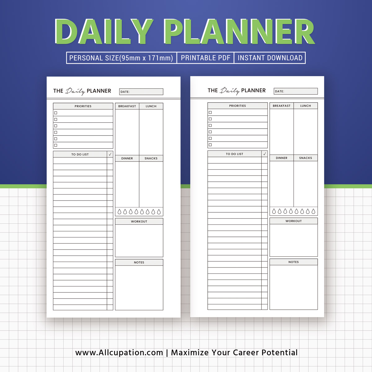 Personal daily planner plum paper planner free online for Daily planner maker