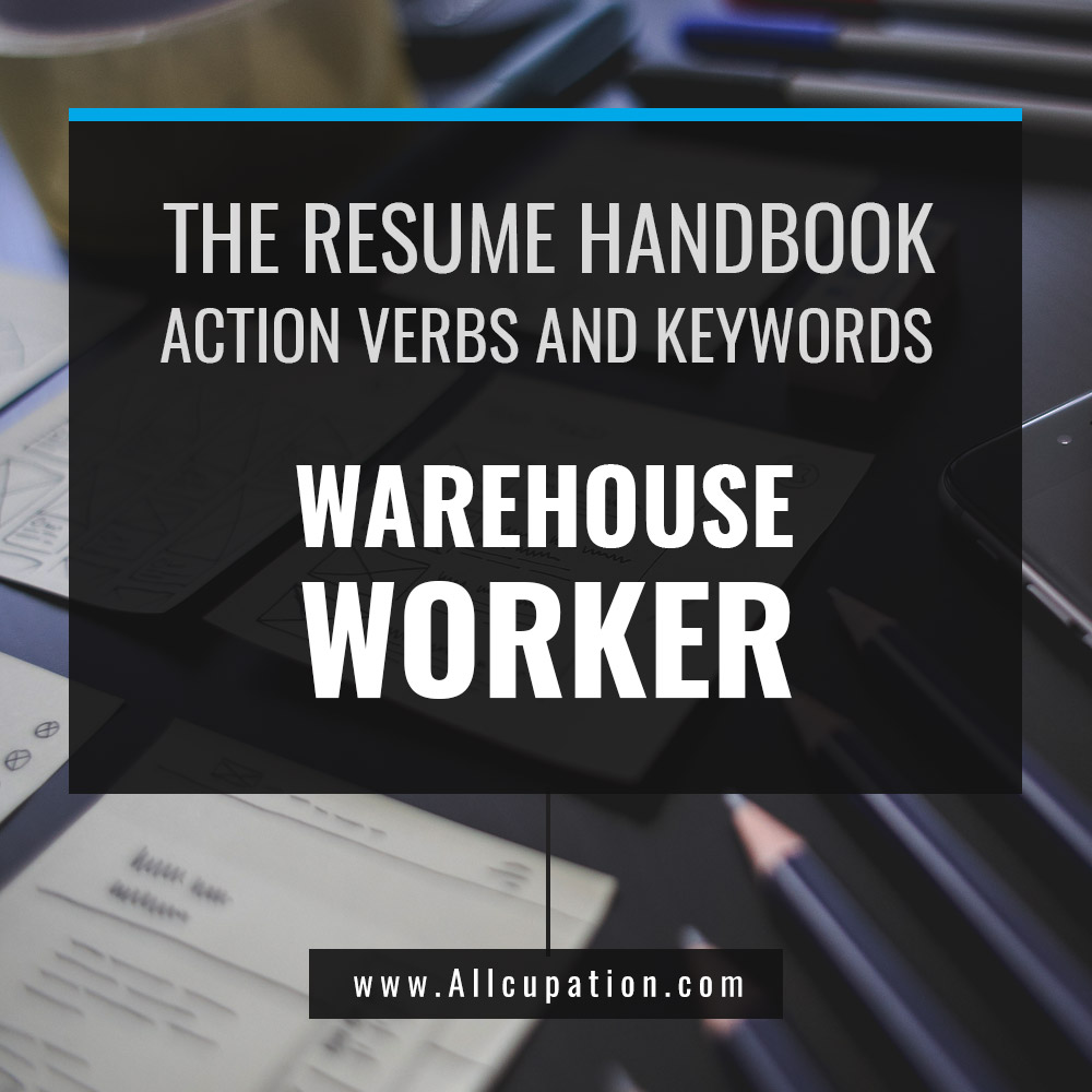 The Resume Handbook Warehouse Worker Resume Samples With Action