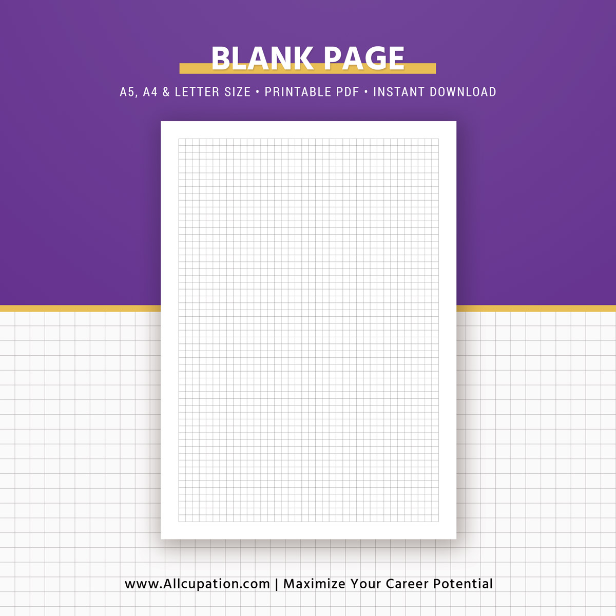 picture relating to Blank Planner titled Printable Blank Planner, Blank Webpages, Sq. Grid, Dominated, Planner Inserts, A5, A4, Letter, Planner Refills, Planner Style and design, Most straightforward Planner, Prompt