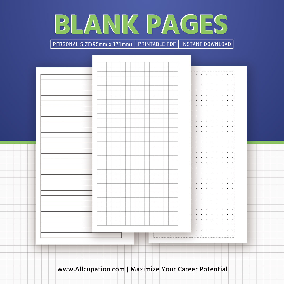 photograph relating to Blank Planner called Printable Blank Web pages, Planner Webpages, Individual Measurement Inserts, Binder, Planner Style and design, Excellent Planner, Filofax Individual, Quick Down load