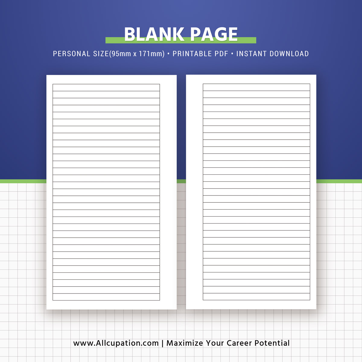 printable blank pages  planner pages  personal size