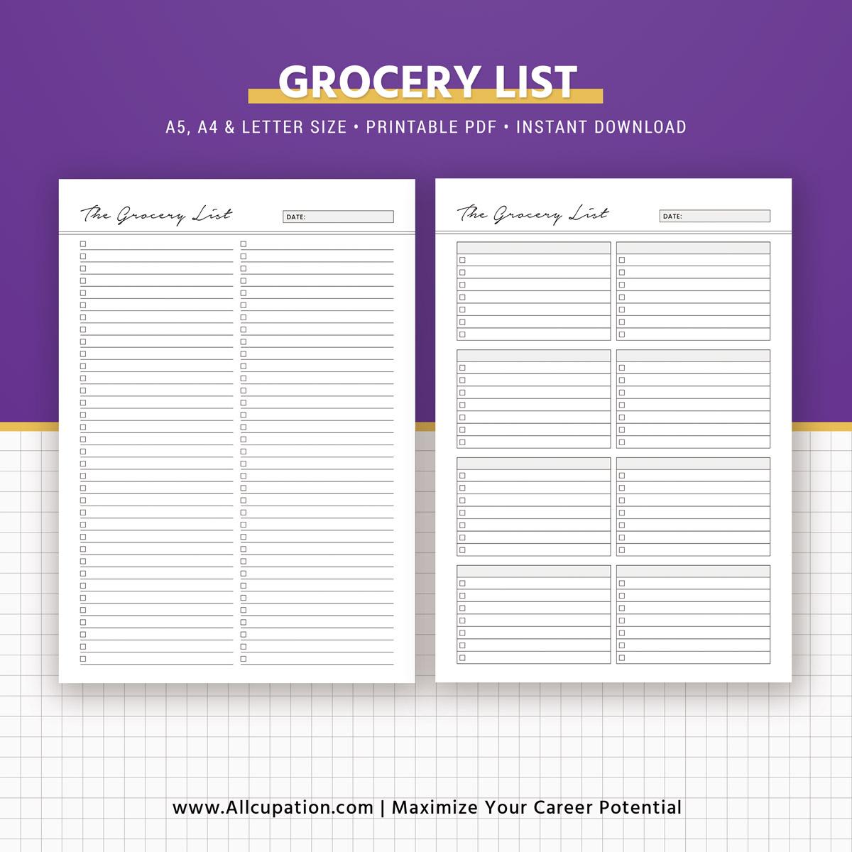 menu planning template with grocery list - meal planner printable menu planner inserts grocery list