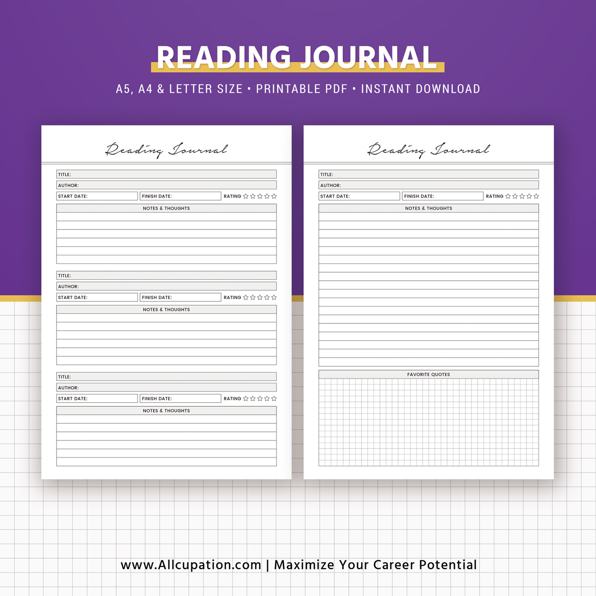 It's just a graphic of Dramatic Reading Journal Printable