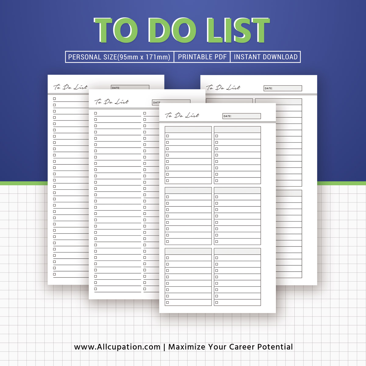 to do list printable, to do list inserts, personal size, notepad