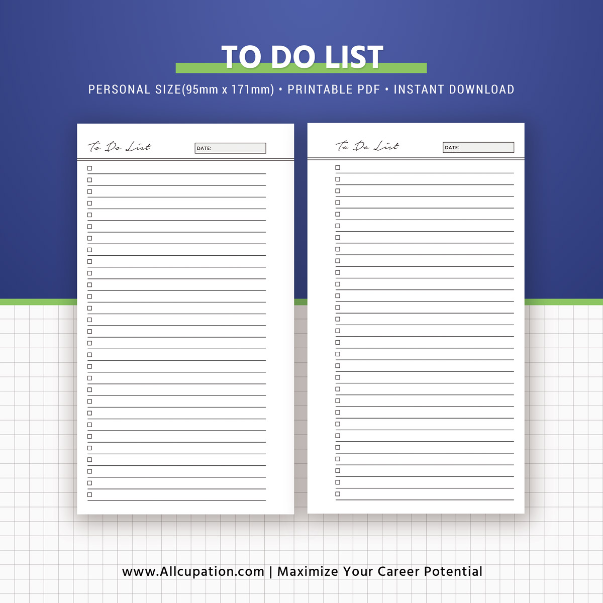 To Do List Printable  To Do List Inserts  Personal Size