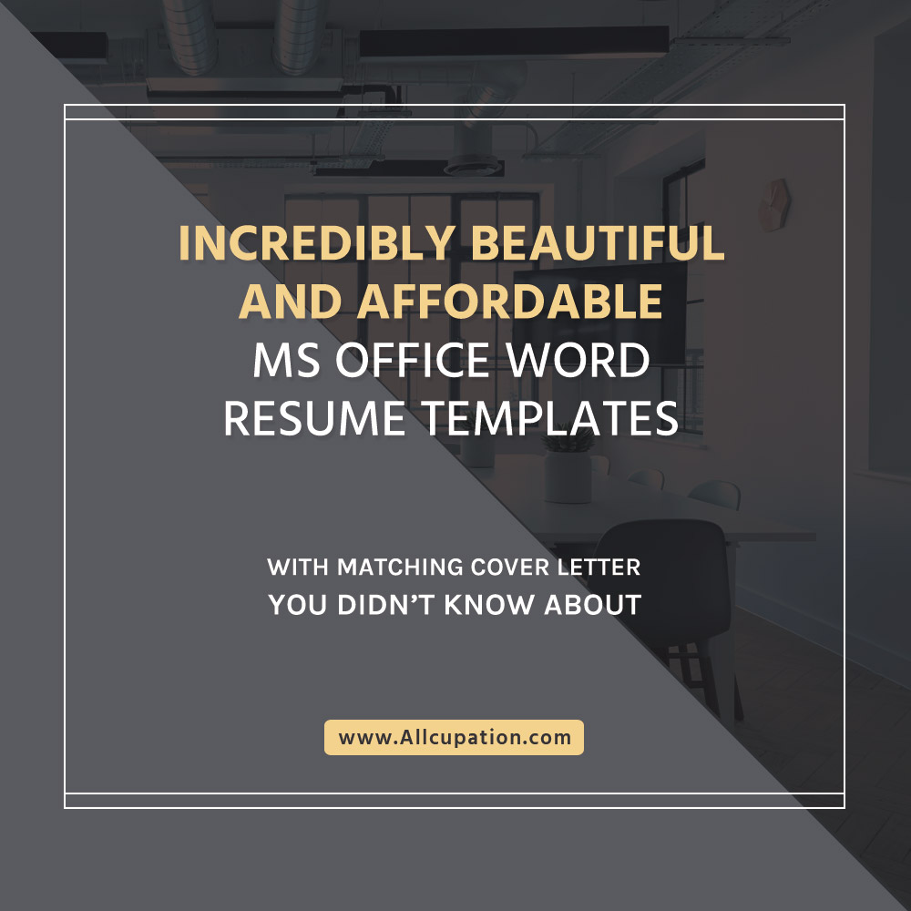 Incredibly Beautiful And Affordable MS Office Word Resume Templates With Matching Cover Letter You Didnt Know About