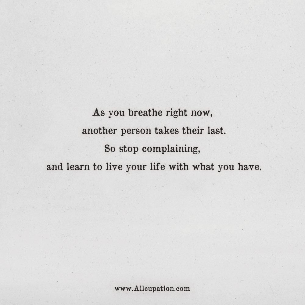 Breathe Quotes Quotes of the Day: As you breathe right now, another person takes  Breathe Quotes