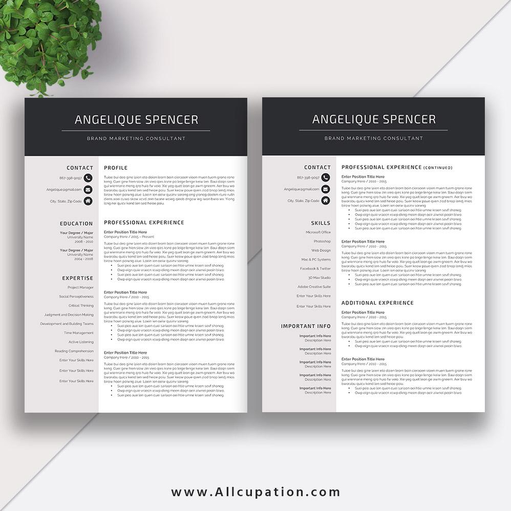 Creative resume template modern cv template word cover letter creative resume template saigontimesfo