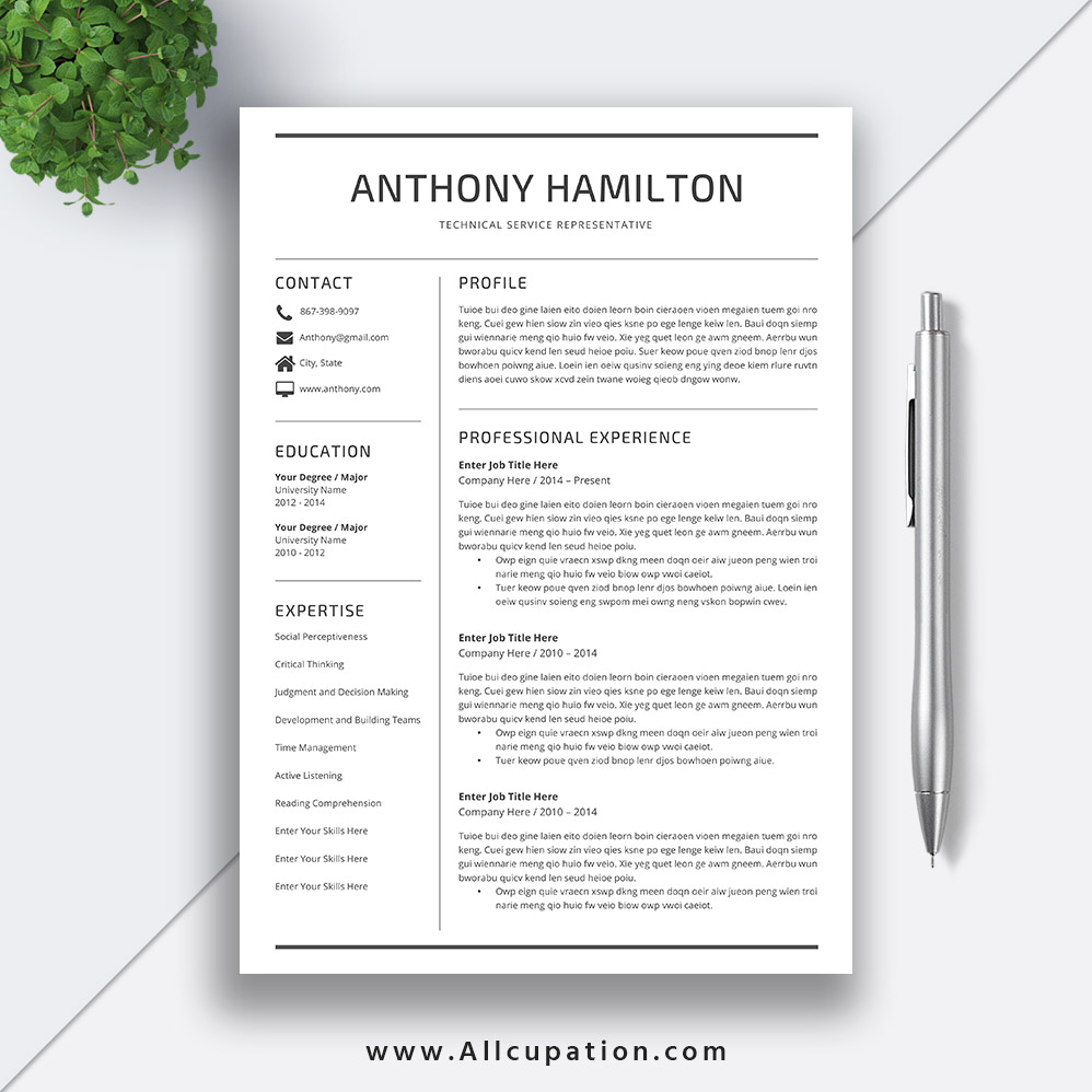 enhance your employability to get a great job with this modern resume template 100  compatible