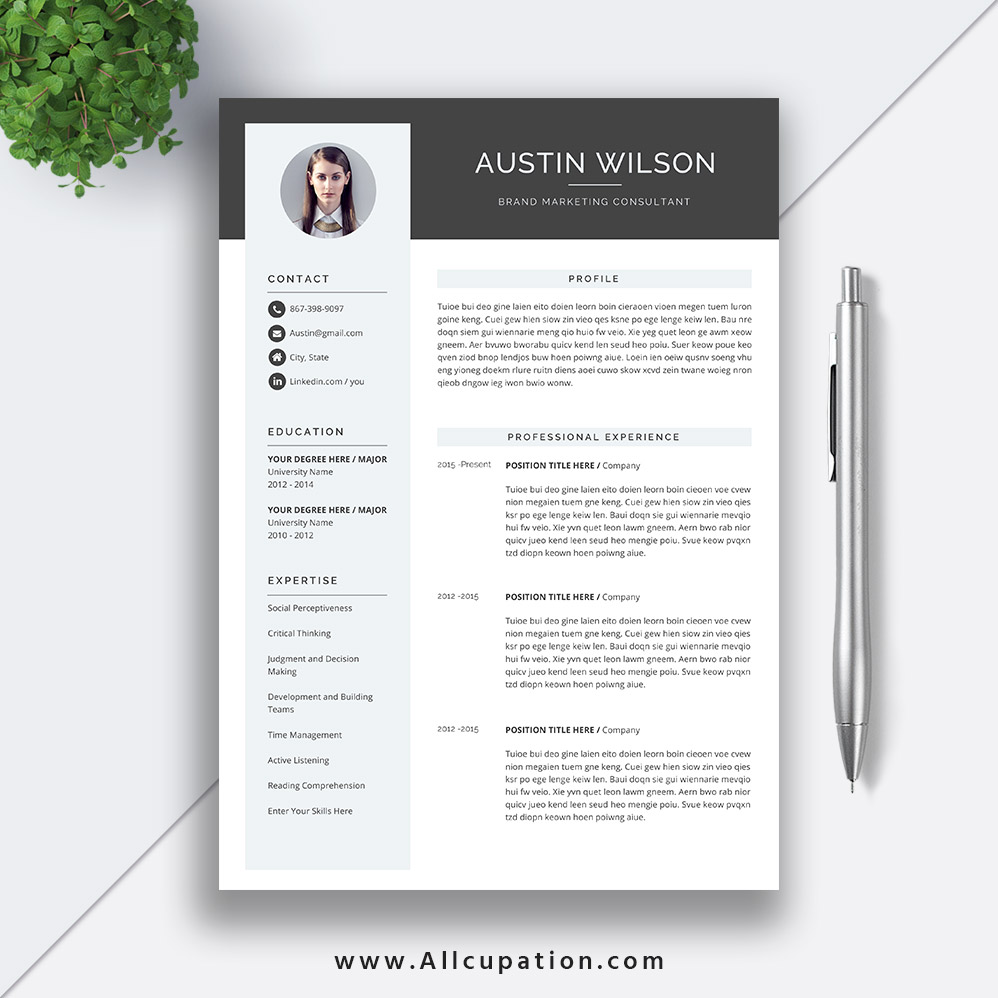 highest rated resume template with cover letter and