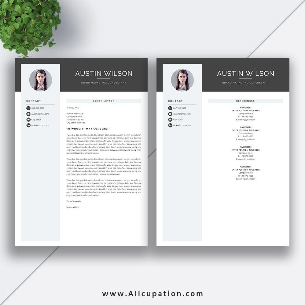 highest rated resume template with cover letter and references template for instant download for