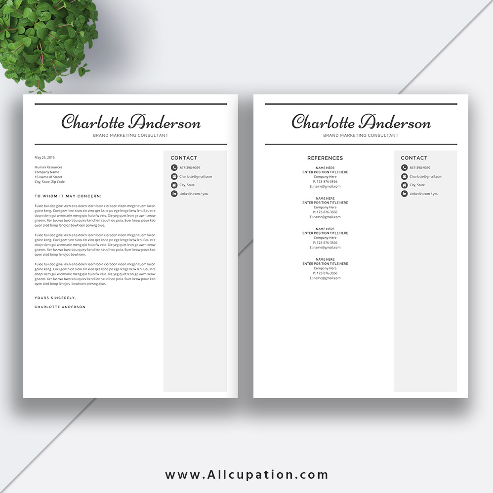 Best Selling Resume Bundle The Rachel Rb Cv Bundle Cover Letter