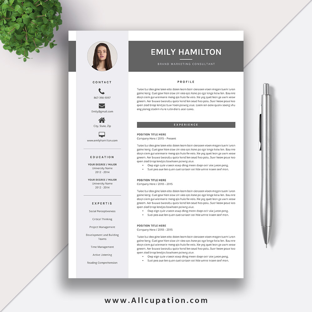 This EyeCatching Editable Word Resume Template For Instant Download