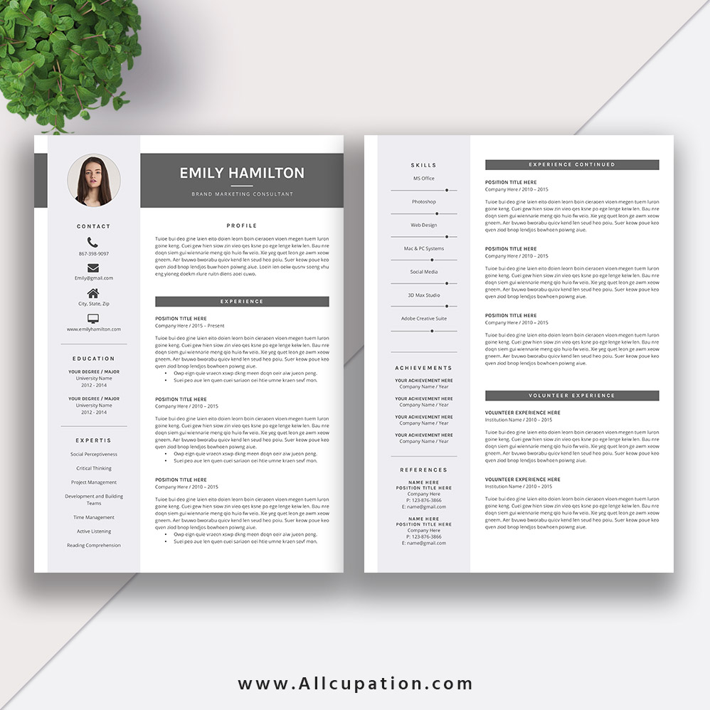 This Eye-catching Editable Word Resume Template for Instant Download ...