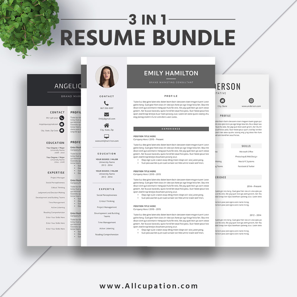 2019 Best-selling Resume Bundle The Emily RB: Creative And