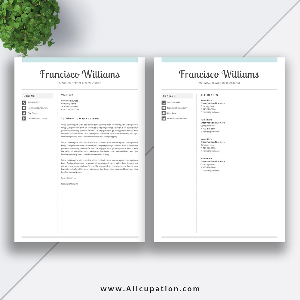 Professional Resume Template Bundle Cover Letter Cv: 2019 Best-selling Resume Bundle The Jonathan RB: Job
