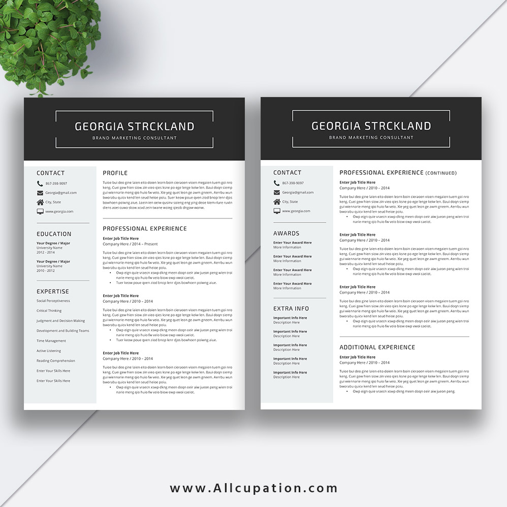 Best selling Resume Bundle The Georgia RB CV