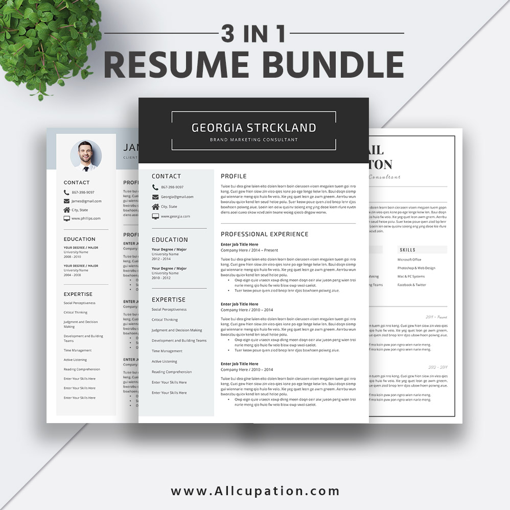 Best Cover Letters Of 2019 3 Great Examples: Best-selling Resume Bundle The Georgia RB: CV Bundle