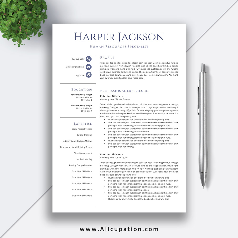 2020 Resume Templates For Job Application Editable Cv Template 1
