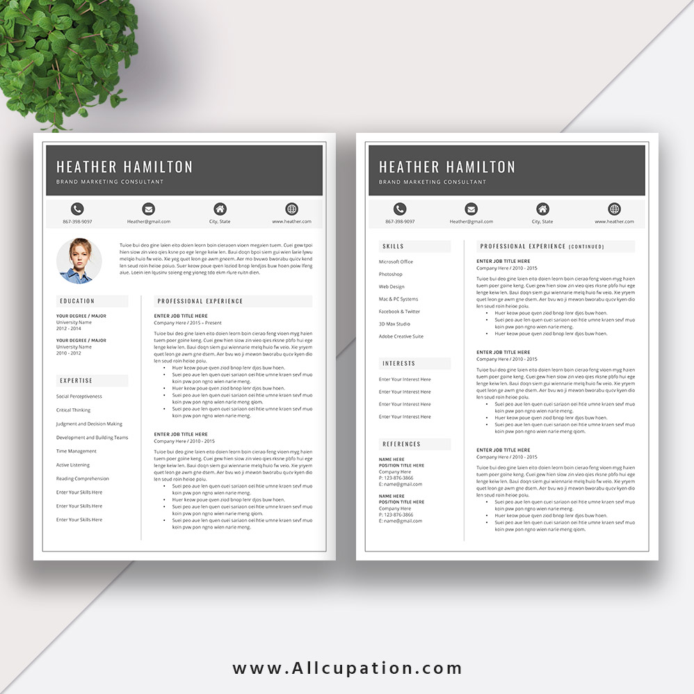 Www.allcupation.com | Millennials, Here Are 5 Resume Templates Examples For  Landing A High Paying Job #resumetemplate #cvtemplate #wordtemplate
