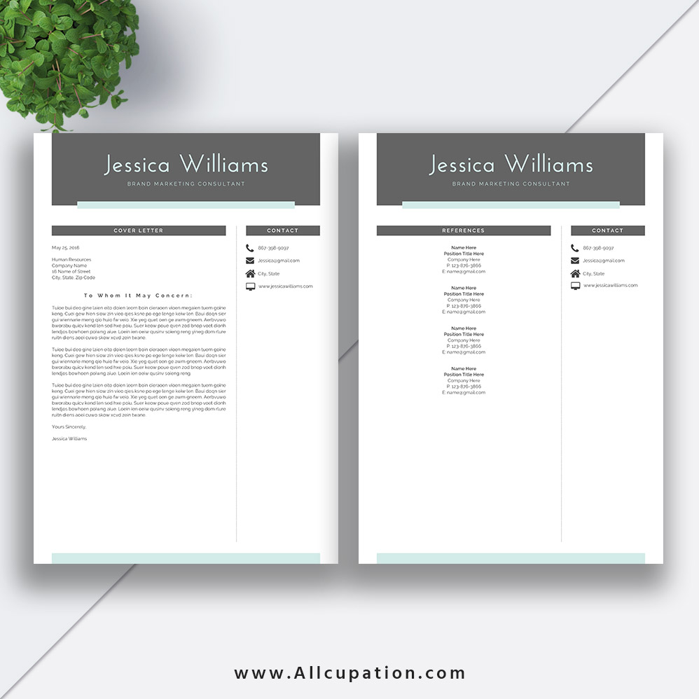 2020 professional and simple resume template word  job