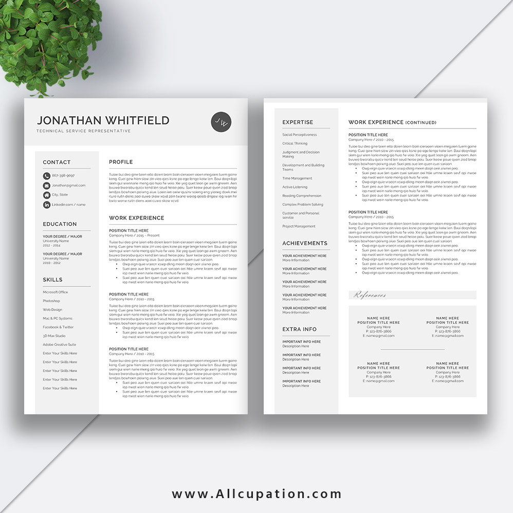 Creative Resume Template ...