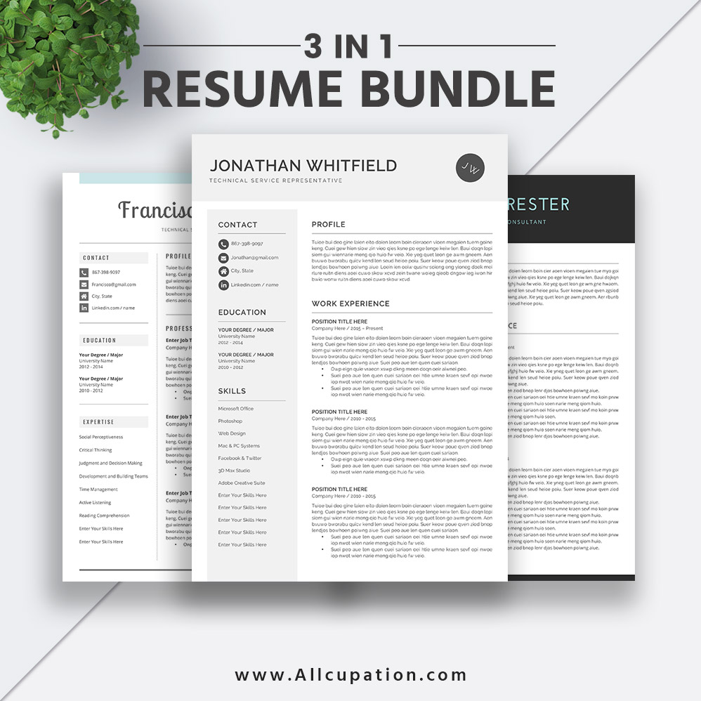 2019 Best-selling Resume Bundle The Jonathan RB: Job Resume ...