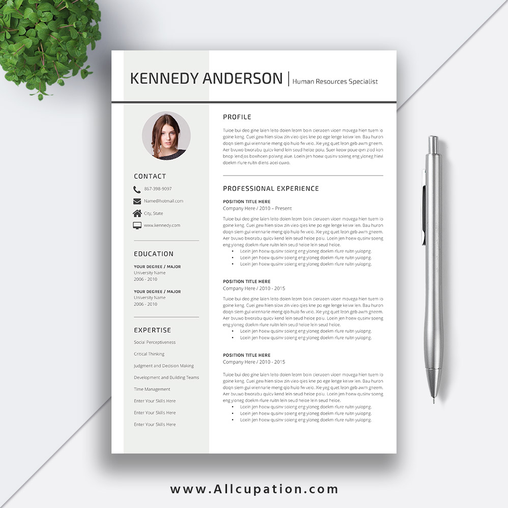 Job Resume Template 2020 Modern Cv Template Word Resume