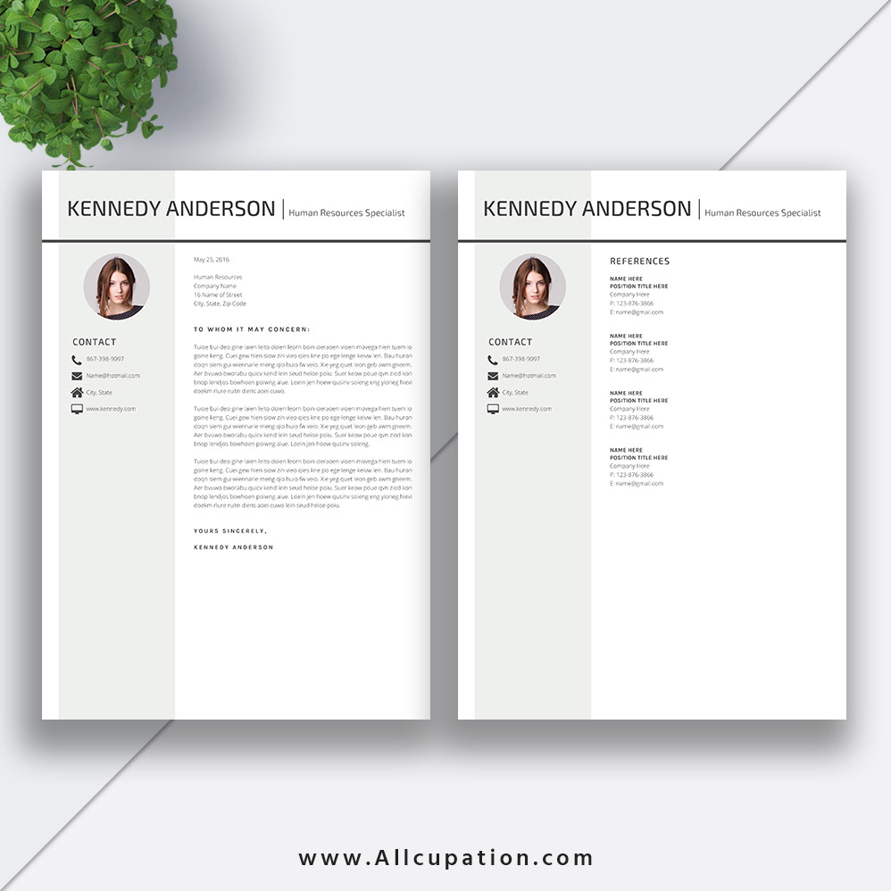 Creative Resume Template ...  References For Resume Template