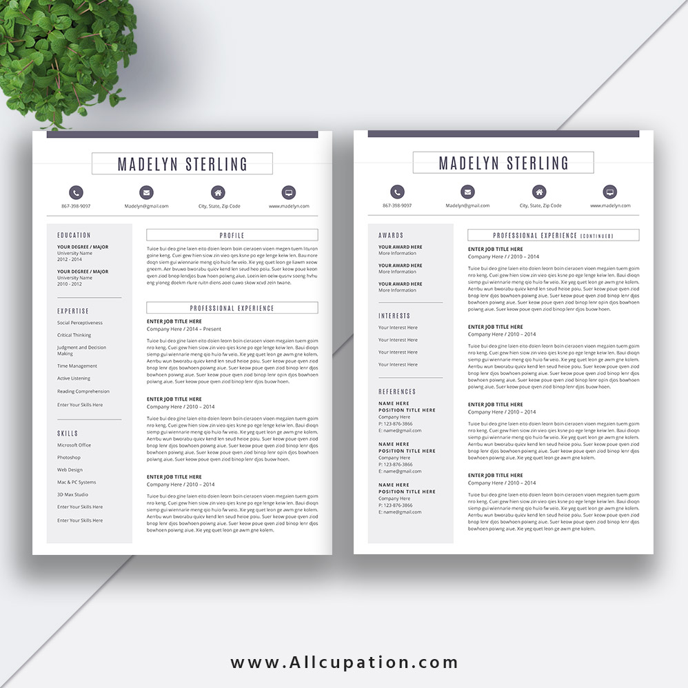 Focus On Quality Content Five WellFormatted Resume Templates With