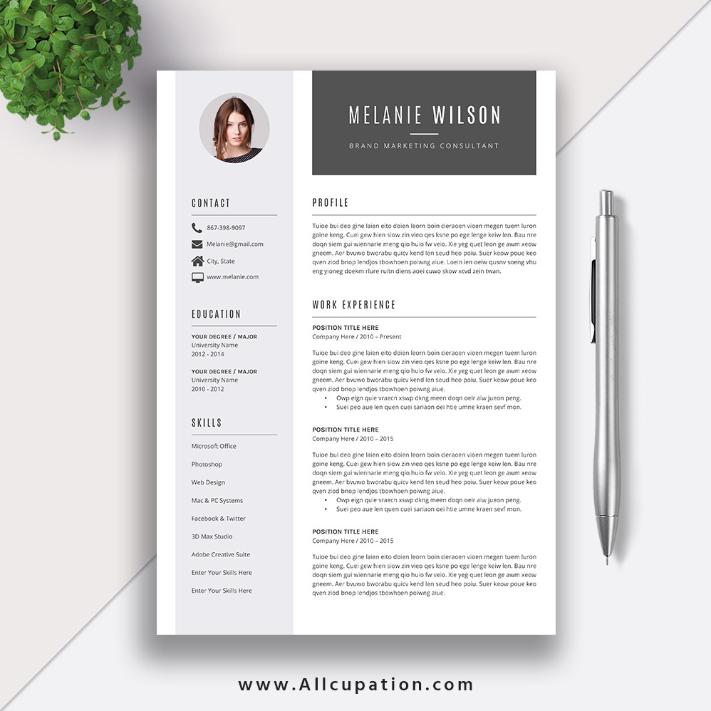 resume template download word format  modern cv template  job resume template cover letter