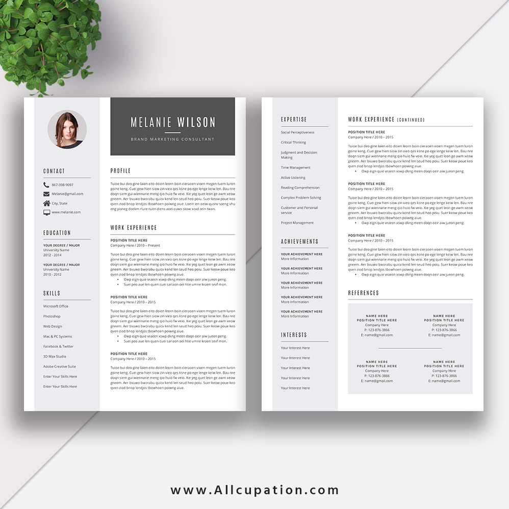 resume template download word format  modern cv template