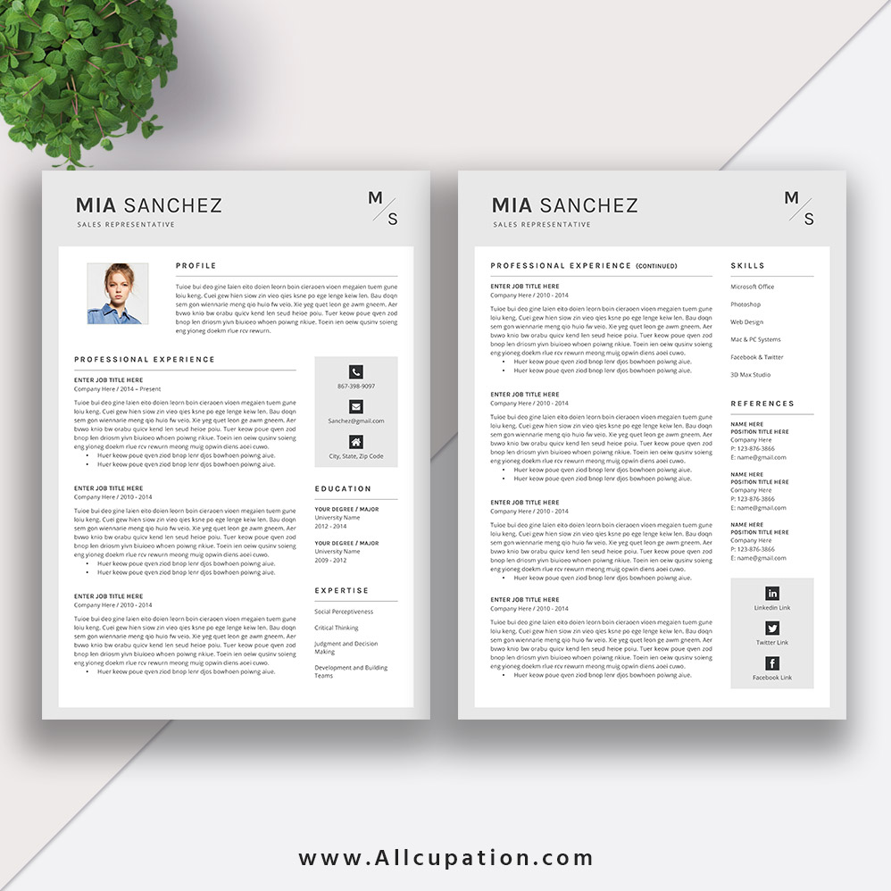 Creative Resume Template ...  Creative Resume Templates For Mac