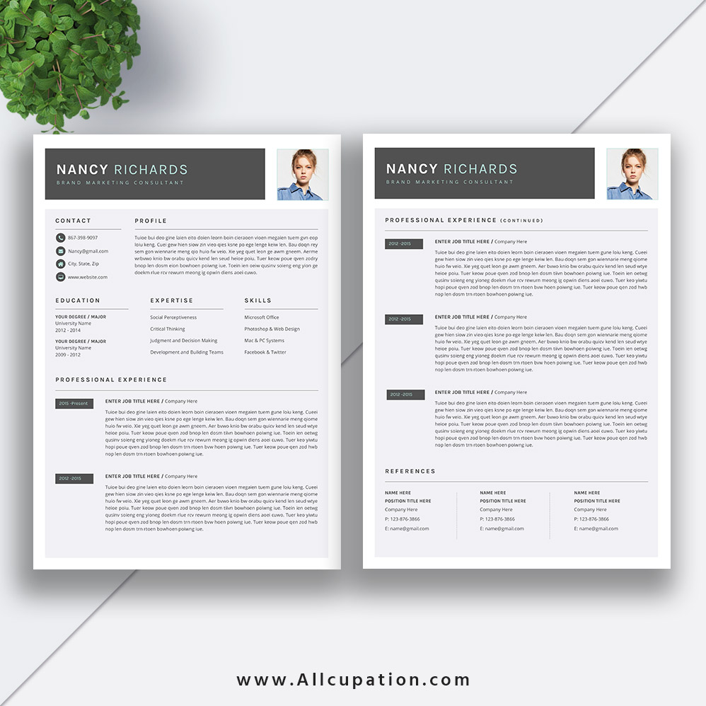 Best-selling Resume Bundle The Nancy RB: CV Bundle, Cover Letter, MS ...