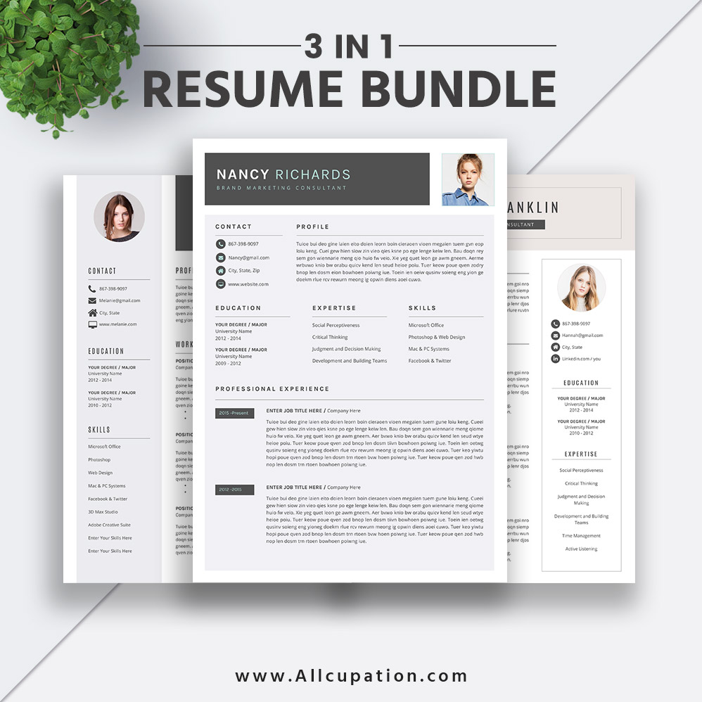 2019 Best Selling Resume Bundle The Nancy Rb Resume Template Word Cv Bundle Job Resume Cover Letter Professional Creative Modern Resume Instant