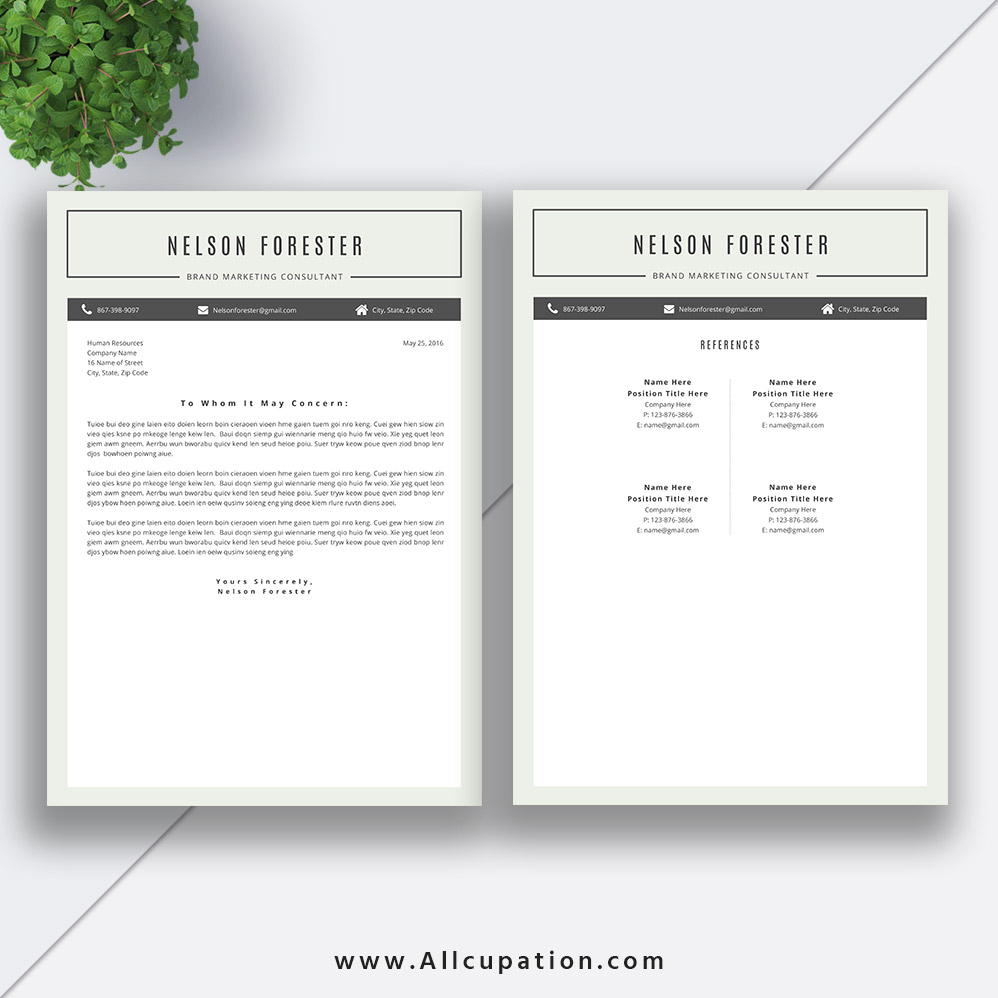 Best Selling Resume Bundle The Barbara RB CV Bundle Cover Letter.  Professional Services Consultant ...