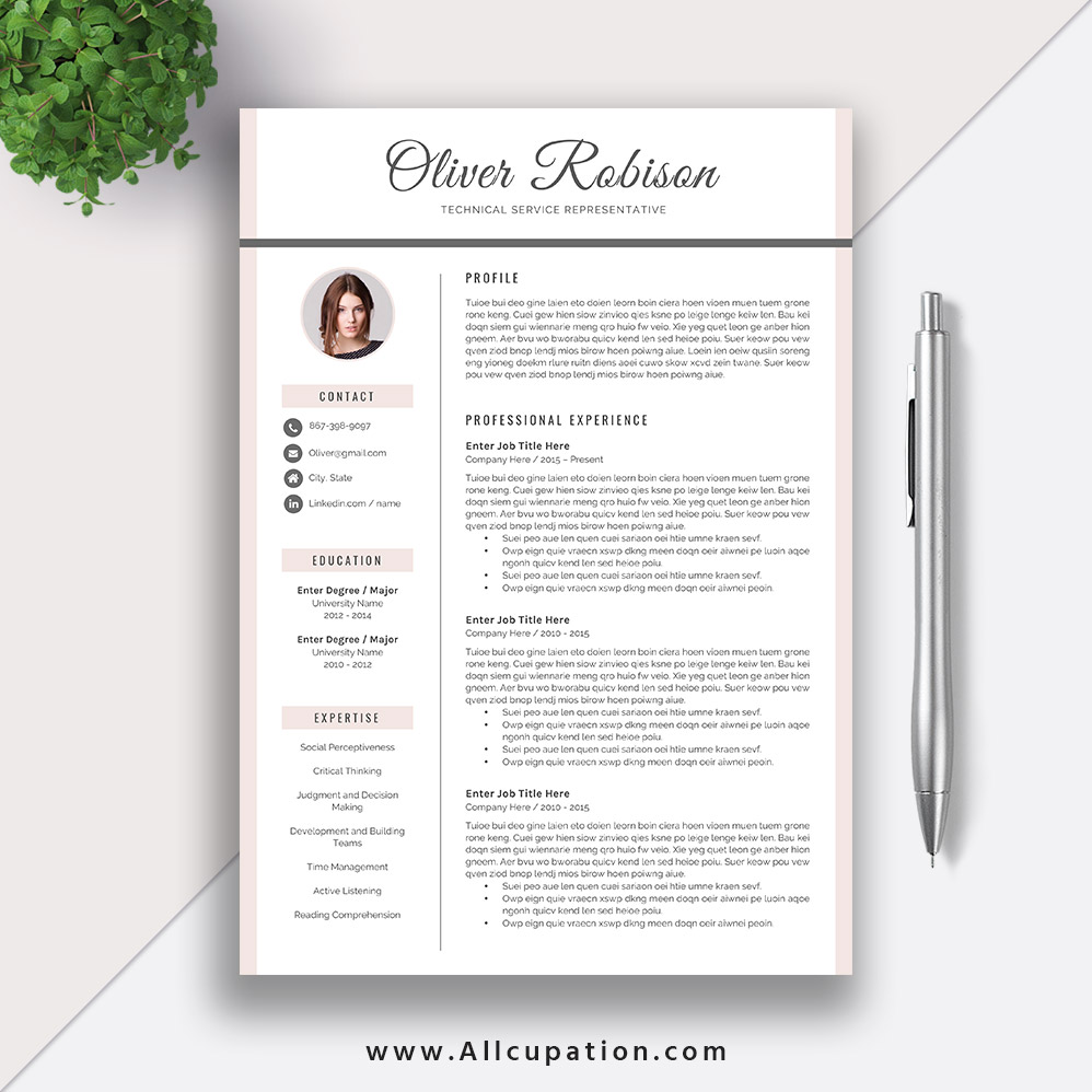 cool resume templates for mac creative resume template modern cv template word cover 20967 | www.Allcupation.com Resume Templates Images Oliver 1 Page Resume