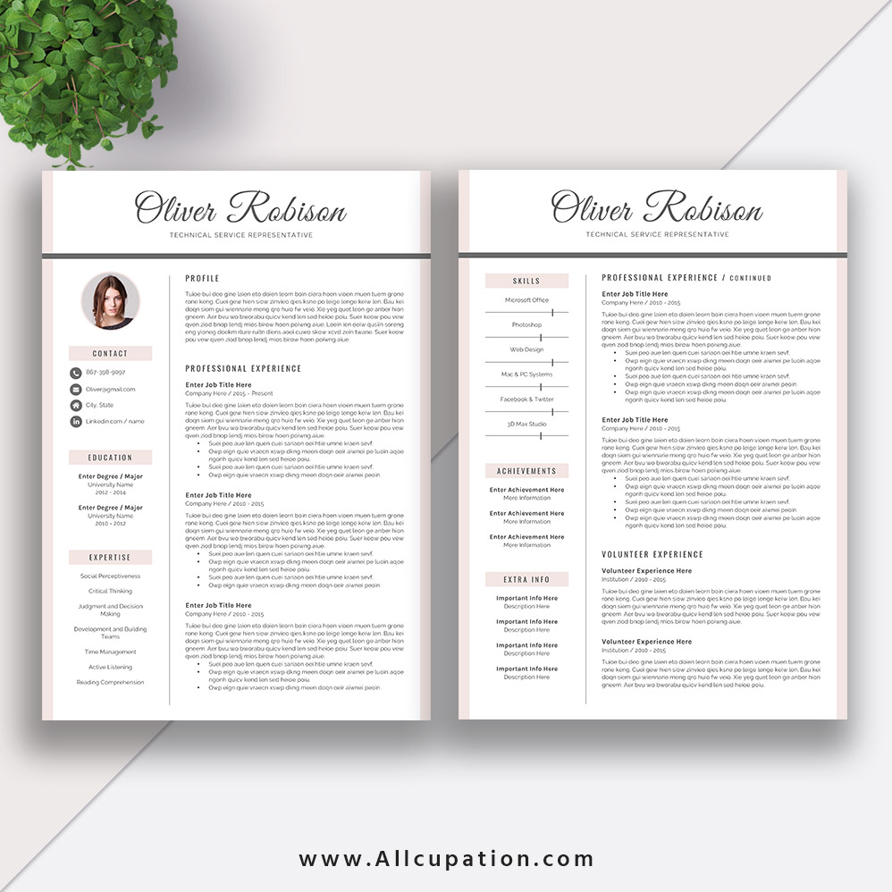 Apple Pages Resume Template Download from www.allcupation.com