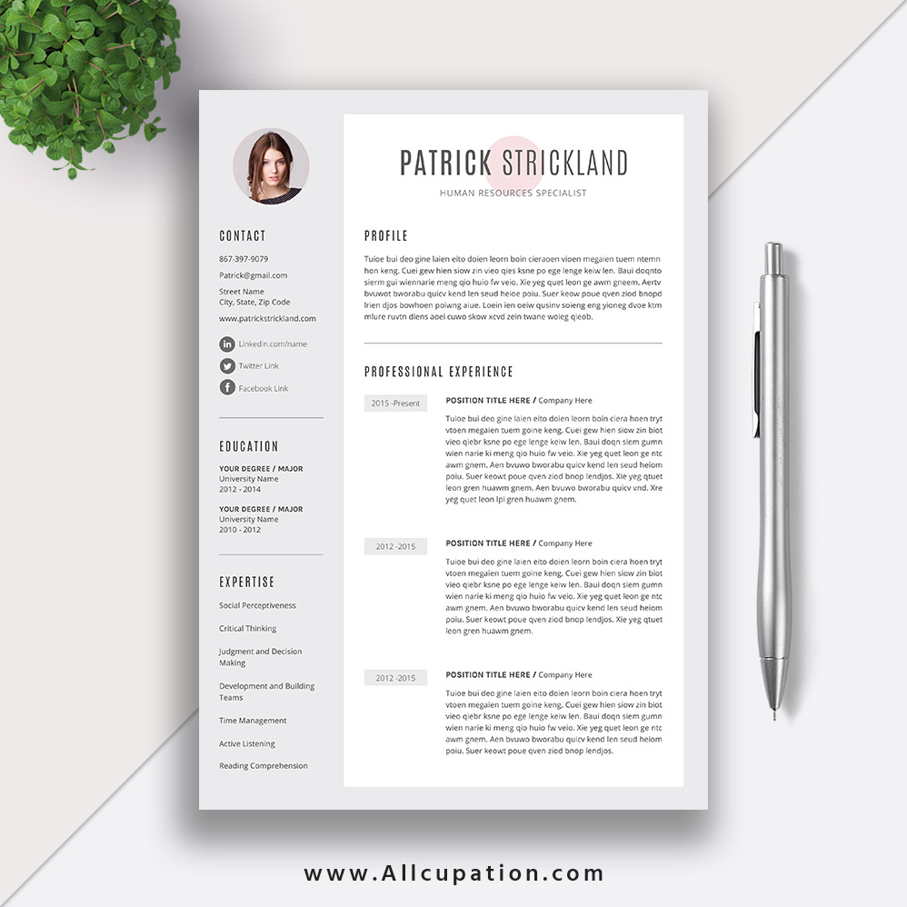 Unique and Modern Resume Template, 1 Page, 2 Pages CV Template, Editable  Word Resume, Cover Letter, Instant Download, Mac PC, PATRICK