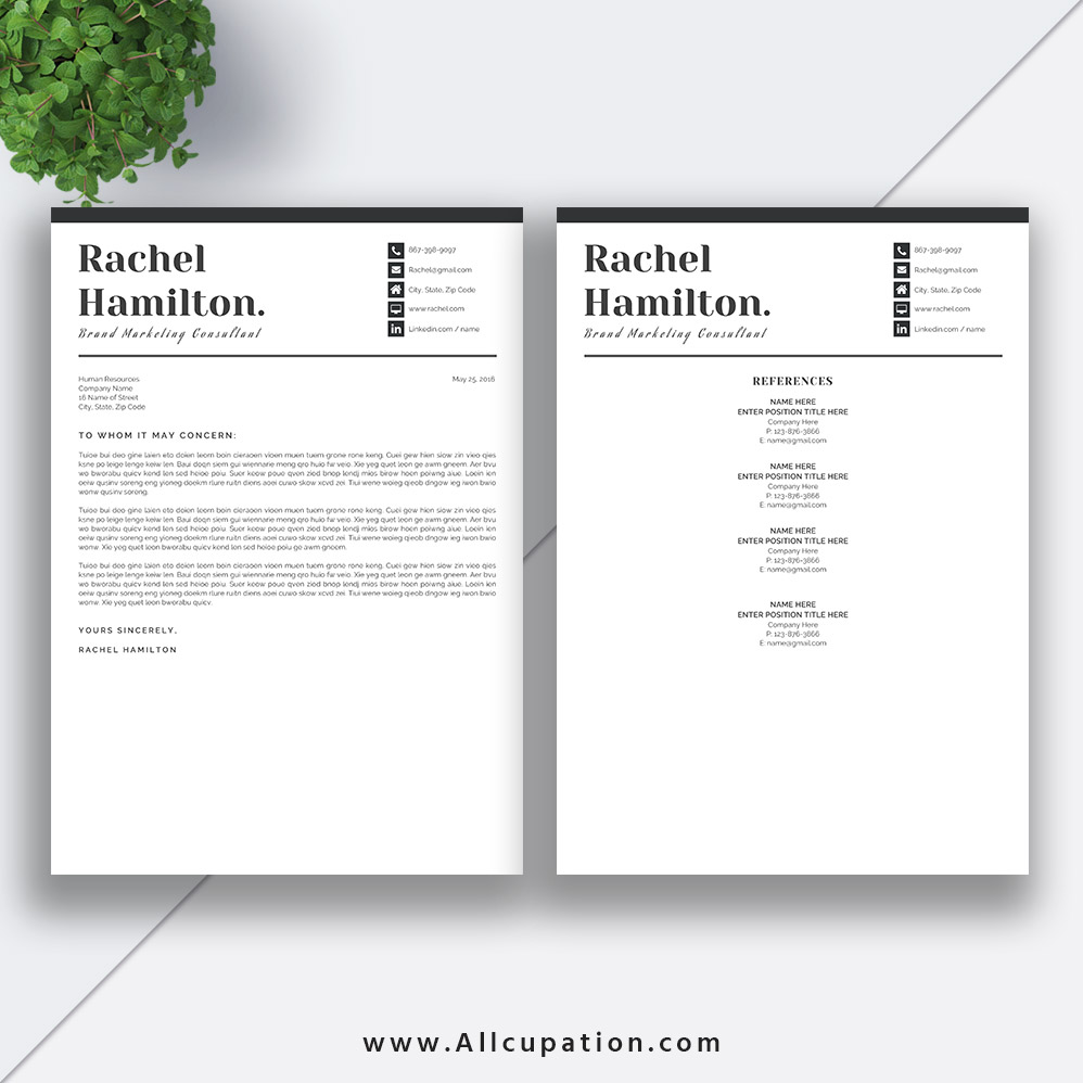 cool resume templates for mac creative resume template modern cv template word cover 20967 | www.Allcupation.com Resume Templates Images Rachel Cover LetterReferences