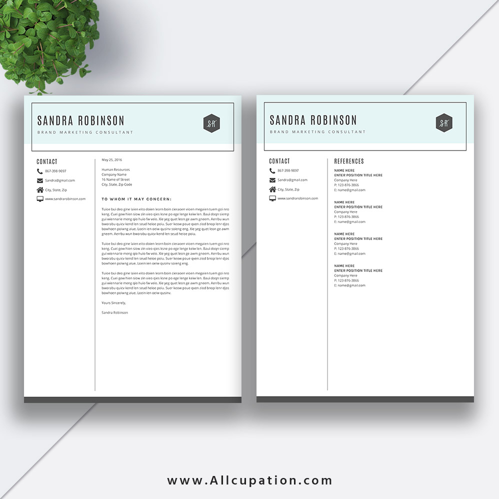 Modern Resume Template ...  References For Resume Template