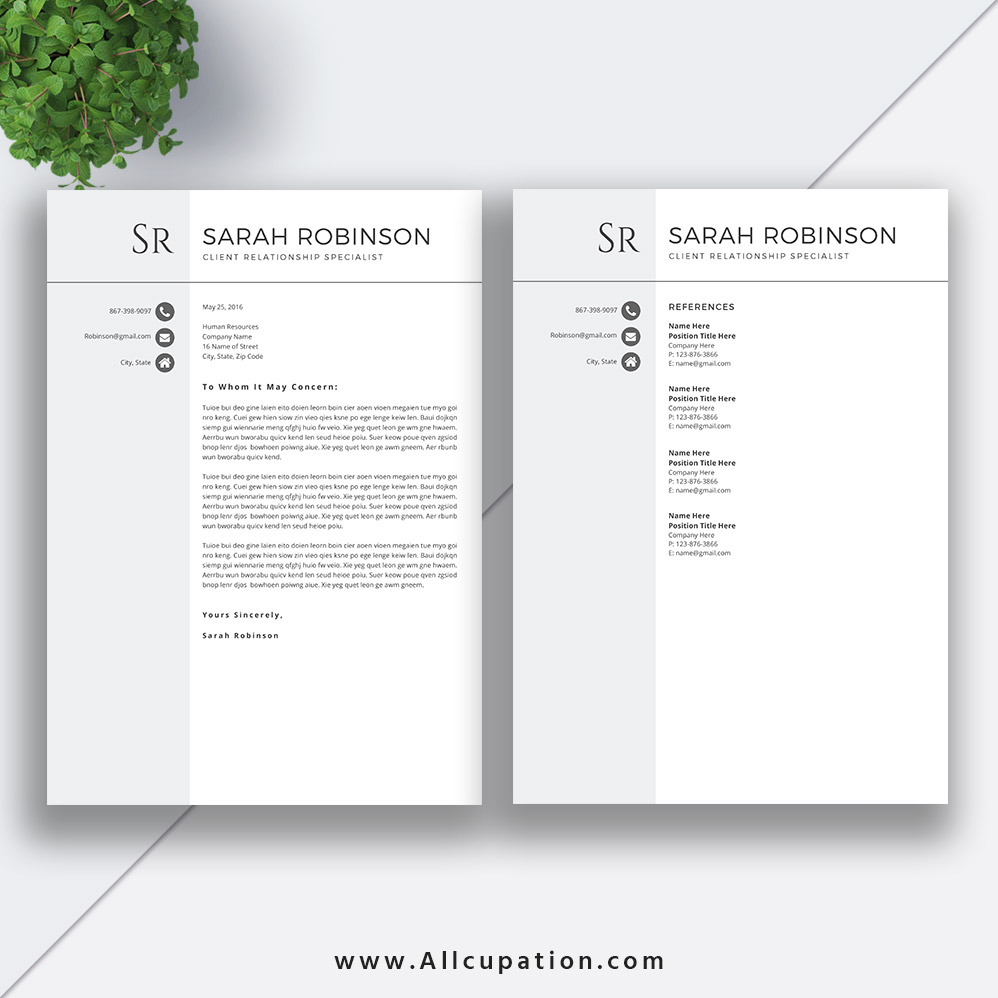 Student Resume Template 2019, Professional CV Template, Simple ...