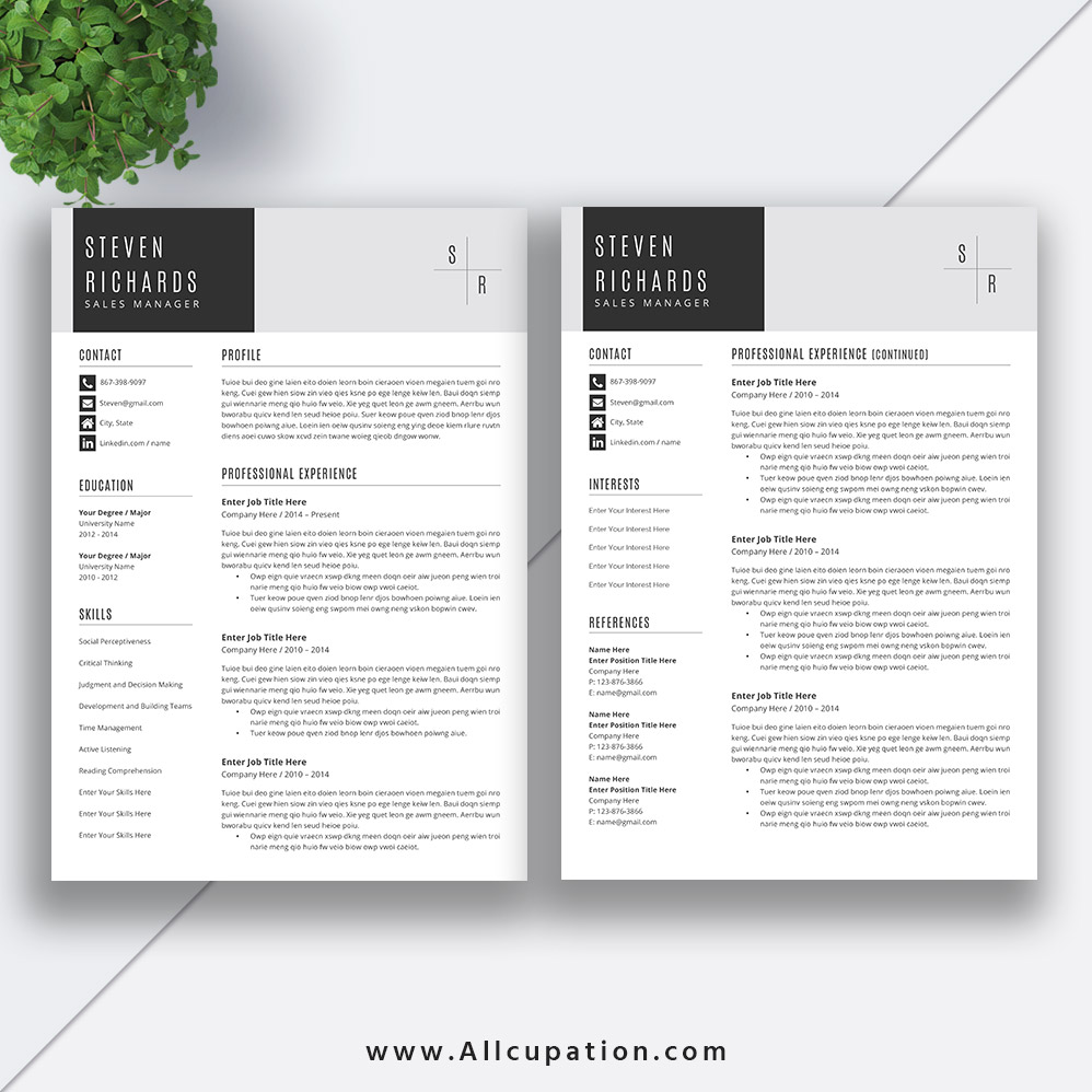 Unique Resume Template Word 2019 Curriculum Vitae Template Cover