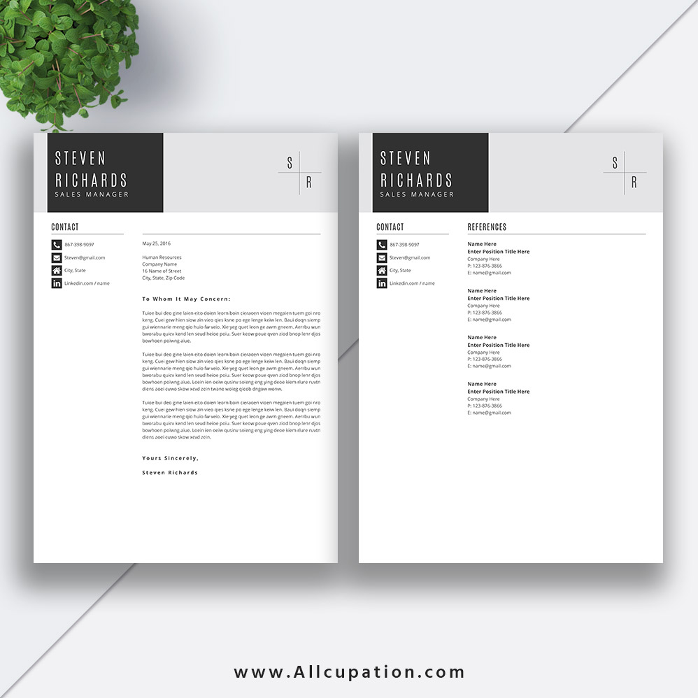 Creative resume template cover letter word modern simple creative resume template cover letter word madrichimfo Choice Image