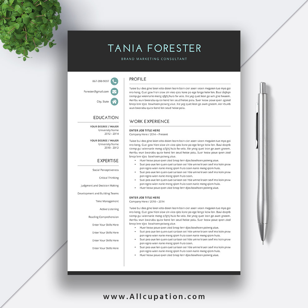 Simple Resume Template Download Word Format, CV Template, Basic ...