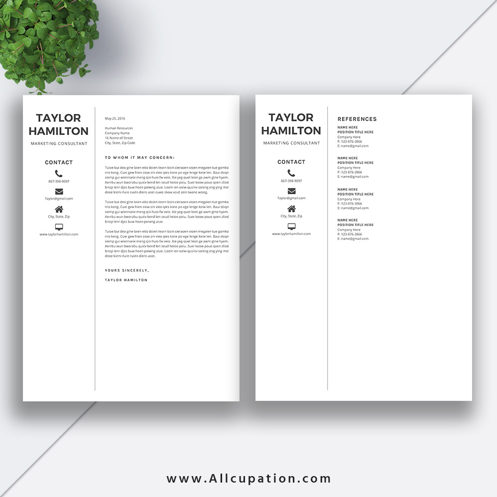 Creative Resume Template ...  References Resume