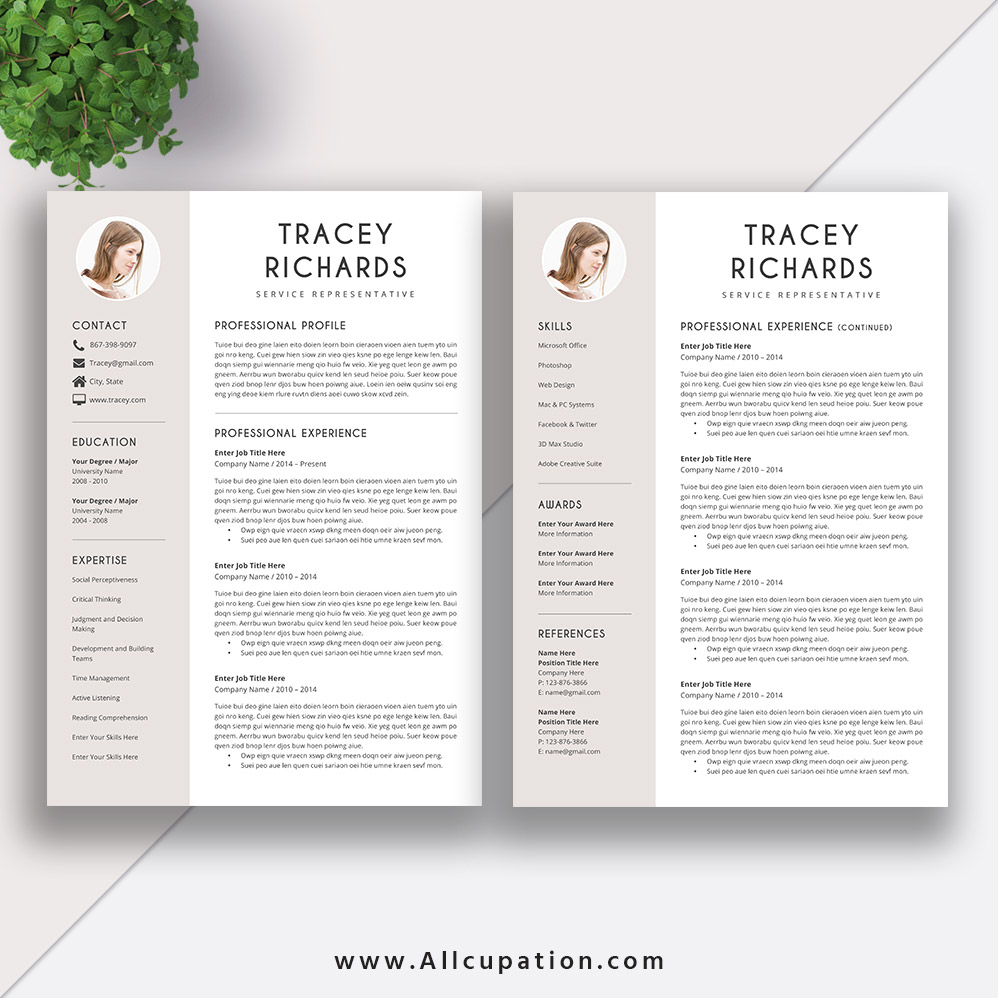 modern and creative resume template  cv sample  best resume design  editable word resume  cover