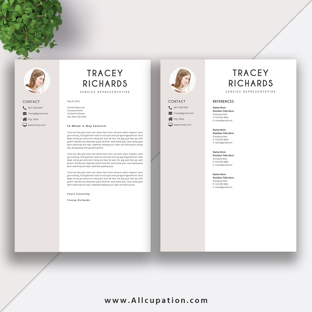 creative resume template  modern cv template  word  cover